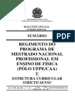 Regimento Interno do Mestrado MNPEF CAA