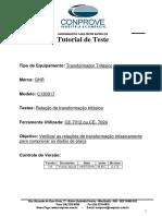 Tutorial Teste GHR Trafo Trifasico TTR Trifascio CE70XX