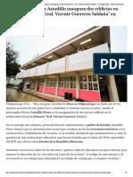 "30-08-2018 Gobernador Hector Astudillo inaugura dos edificios en Escuela Primaria ""Gral. Vicente Guerrero Saldaña"" en Chilpancingo."