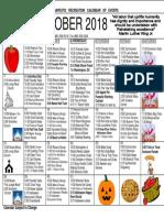 AM October Rec 2018 Calendar