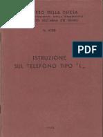 Telefono da campo Tipo ''L'' (1949) - Traduzione italiana del manuale inglese.