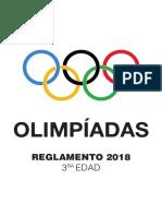 Reglamento Olimpíadas 3ra Edad 2018