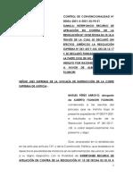 Apelación de la defensa de Alberto Fujimori