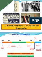 Dictadura militar y transición a la democracia