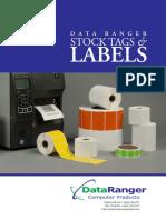 Data Ranger Stock Label Catalog 2018 NP Print