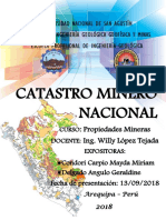 Catastro minero nacional