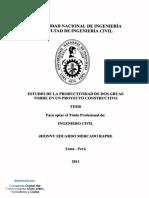 Tesis Uni-estudio de La Productividad de Dos Grúas-jhonny Eduardo Mercado Rapre