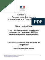 Programme Sii Mpsi&Mp( ) 2013&2014