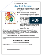 birthday book program