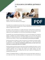 Artículo_no Quitel El Celular a Los Niños