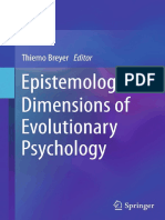 Thiemo Breyer (Eds.)-Epistemological Dimensions of Evolutionary Psychology-Springer-Verlag New York (2015)
