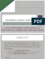 Gen Ed Powerpoint