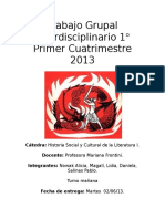 t.p Interdisciplinario- Historia 1- 2013