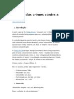 Análise Dos Crimes Contra a Vida