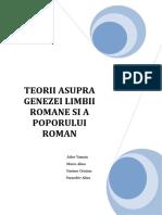 Teorii Asupra Genezei Limbii Romane Si a Poporului Roman 93