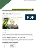 FIFA 10 Goal Celebrations G