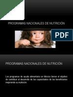 Programas Nacionales de Nutrición Yessica Anahi Gvonzalez Vazquez
