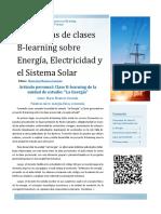 Propuestas de clases  B-learning sobre  Energía, Electricidad y  el Sistema Solar