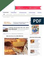 Bolo de Arroz Cru UMA DELÍCIA! - Culinária-Receitas - Mauro Rebelo