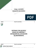 3. Sistemas de 1GDL y Ecuación de Movimiento