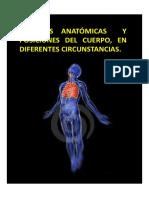 REGIONES ANATÓMICAS Y POSICIONES DEL CUERPO, EN DIFERENTES CIRCUNSTANCIAS.