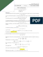 Corrección primer parcial de cálculo III, 1 de octubre de 2018