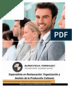 Especialista Restauracion Organizacion Gestion Produccion Culinaria