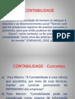 CONTABILIDADE Introdutória FEVEREIRO2018