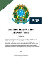 Farmacopeia Homeopatica 3a Edicao Ingles Com Alerta