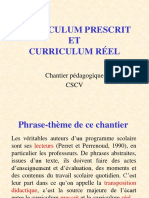 Curriculum prescrit