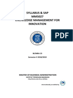 Syllabus_BL23_Knowledge Management for Innovation