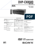 Dvp-cx850d Rmt-d113p Uk Model Sm