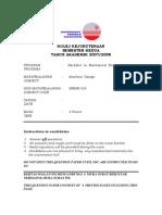 Memb 333 -Final Exam- Sem II-207-208
