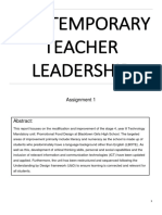 contemporary teacher leadership assignment 1