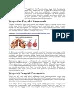 Bagaimana Cara Mengobati Penyakit Paru Paru Pneumonia Yang Cepat Tanpa Efeksamping