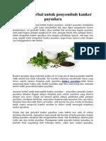 Tanaman Herbal Untuk Penyembuh Kanker Payudara