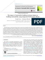 The impact of sustainable building envelope design on building sustainability using Integrated Performance Model
