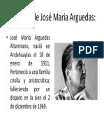 Biografía de José Maria Arguedas