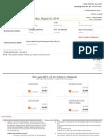 RedBus Ticket TM9J91940567