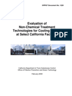 Evaluation of Non-Chemical Treatment Technologies for Cooling Towers at Select California Facilities