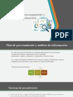 2.7.5. Plan de procesamiento y análisis de información.
