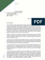 Carta original de Torra pidiendo ayuda internacional