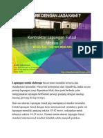 MURAH & TERBAIK, Kontraktor Lapangan Futsal Medan, WA 0821-8620-5040