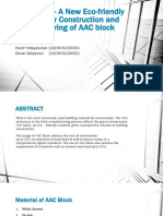 AAC Block - A New Eco-friendly Material For