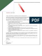 Phillip Strachan's letter to QR staff
