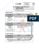 LISTADO DE ACTIVIDADES COMPLEMENTARIAS Y EXTRAESCOLARES 2018-2019
