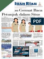 Epaper Haluanriau Edisi Rabu, 19 September 2018