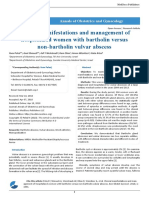 Clinical Manifestations and Management of Hospitalized Women With Bartholin Versus Non Bartholin Vulvar Abscess