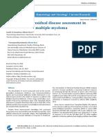 Minimal Residual Disease Assessment in Multiple Myeloma