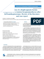 Incarceration of a Diaphragmatic Hernia Complicated by a Tension Fecopneumothorax After Left Hemihepatectomy Review of the Literature and Case Report